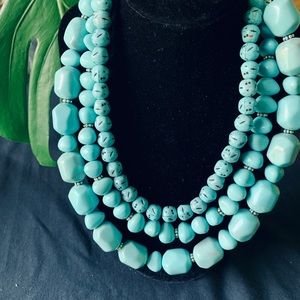 Jewelry - Avon turquoise beaded sterling silver necklace